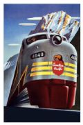Vintage Travel Posters Canadian Pacific Train